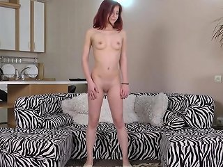 Cute Real Flexible Teen Gymnast Stretching And Masturbating In Extreme Positions