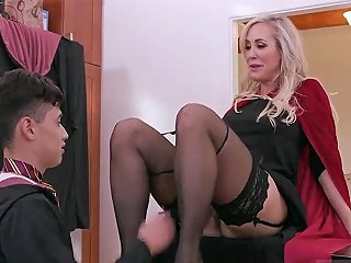 Obsession Blowjob Halloween Special With A Threesome