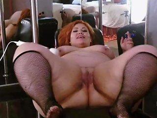 Bbw Masturbating On Kamasutra Chair