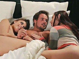 Torrid Sexy Aidra Fox Wakes Dude Up For Some Good Ffm 3some