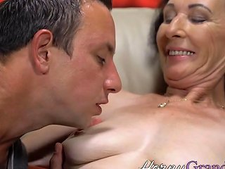 Granny Bounces On Huge Cock Porn Videos