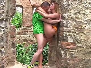 Amateur Couple Fucks Hard In Some Awesome Medieval Ruins Any Porn
